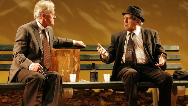 Gemeinsam standen Otto Schenk und Helmuth Lohner für unzählige Stücke auf der Bühne. (Bild: APA/HELMUT FOHRINGER)