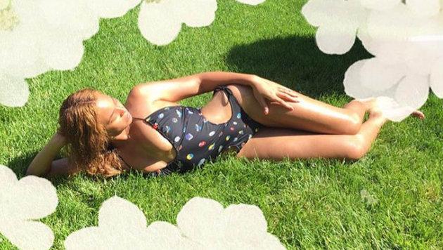 Beyonce im Badeanzug (Bild: Viennareport)