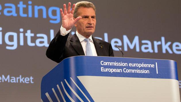 So umwerben Lobbyisten den EU-Digitalkommissar (Bild: AP)