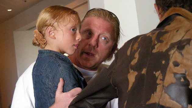 Eines der seltenen Fotos von Anna Ermakova mit ihrem Vater Boris Becker. (Bild: Viennareport)