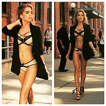 Sylvie Meis beim Shooting für Hunkemöller in New York (Bild: Viennareport)
