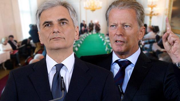 Asyl-Fiasko: Koalitionsstimmung komplett vergiftet (Bild: APA/ROLAND SCHLAGER, APA/GEORG HOCHMUTH)