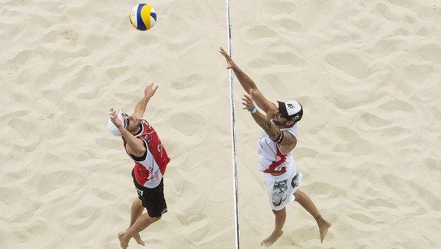 Beach-Stars Doppler/Horst bremsen die WM-Euphorie (Bild: APA/EPA/JOERG MITTER / GLOBAL NEWSROOM / HANDOUT)