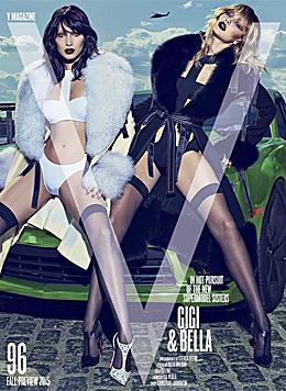 """Gigi und Bella Hadid im """"V""""-Magazin (Bild: instagram.com/gigihadid)"""