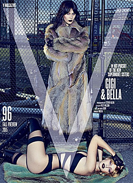 "Gigi und Bella Hadid im ""V""-Magazin (Bild: instagram.com/bellahdid)"