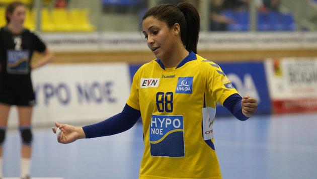 Hypo-Flügelspielerin Mariana Costa (Bild: GEPA)