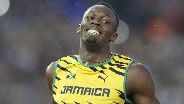 Was ist nur los mit Usain Bolt? (Bild: APA/EPA/STR)