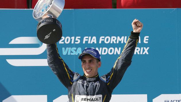 Buemi wahrt mit Sieg Titelchance in Formel E (Bild: AP)