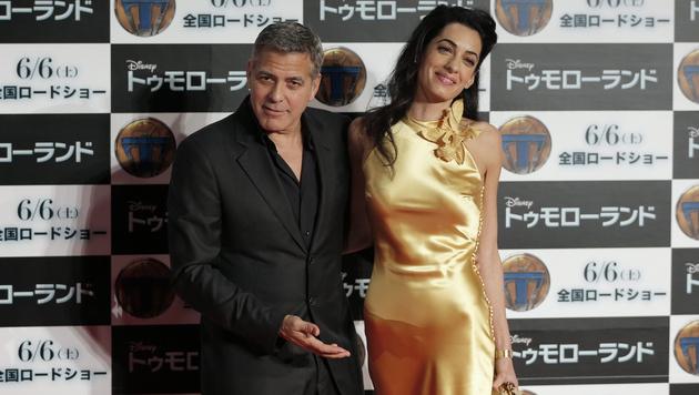 """George Clooney über Amal: """"Sie ist klüger als ich"""" (Bild: APA/EPA/KIYOSHI OTA)"""