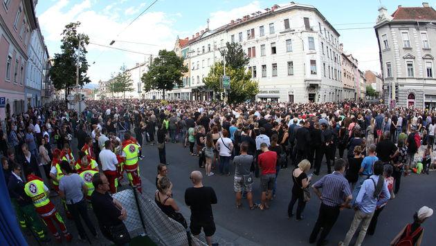 Trauermarsch in Graz (Bild: Sepp Pail)
