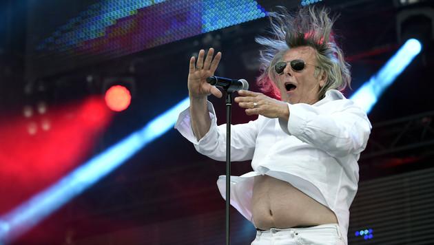 """Sänger Rudi Nemeczek von der österreichischen Band """"Minisex"""" (Bild: APA/HERBERT P. OCZERET)"""