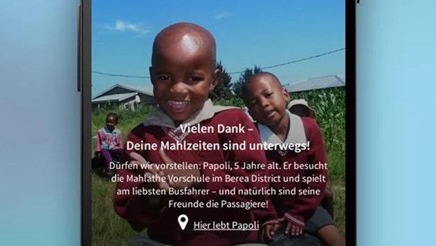 Neue Smartphone-App soll hungernden Kindern helfen (Bild: Google Play Store)