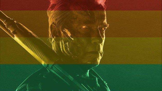 Regenbogen-Schwarzenegger wurde zum Internet-Hit (Bild: facebook.com/arnold)