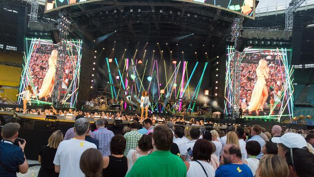Die Bühnenshow spielte ebenfalls alle Stückerln und begeisterte die 40.000 Fans. (Bild: Andreas Graf)