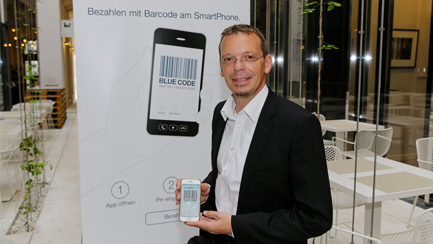 Michael Suitner ist der Erfinder der Bezahl-App Blue Code. (Bild: Secure Payment Technologies GmbH/APA-Fotoservice/Tanzer)