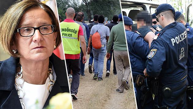 Mikl-Leitner bietet Ungarn weitere Polizisten an (Bild: APA, APA/EPA,)