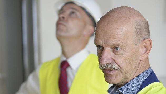 KAV-Generaldirektor Udo Janßen und Architekt Albert Wimmer (re.) (Bild: APA/ROBERT JAEGER)