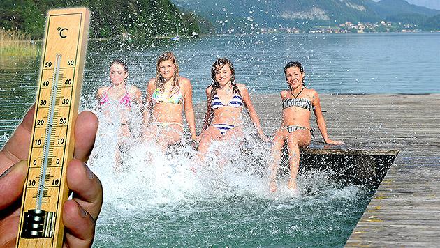Ferienbeginn: Hitzewelle rollt über Österreich (Bild: APA/BARBARA GINDL)