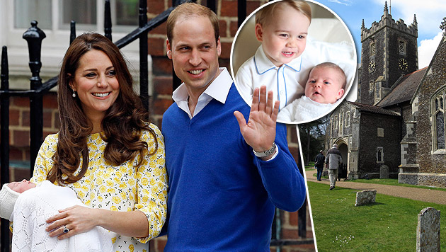 Prinzessin Charlotte Elizabeth Diana ist getauft (Bild: AP, dpa/Britta Gürke)