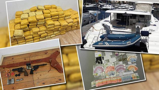 600 Kilo Koks auf Jacht: Vater und Sohn verhaftet (Bild: LPD)