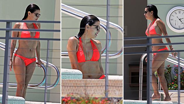 Eva Longoria zeigt ihre knackigen Bikini-Kurven. (Bild: Viennareport)