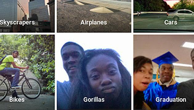 Google Fotos erkannte schwarzes Paar als Gorillas (Bild: twitter.com/jackyalcine)