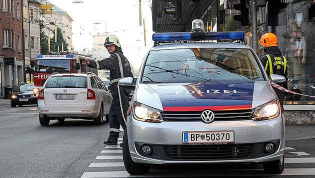 Die Polizei sperrte das Areal großräumig ab. (Bild: MARKUS TSCHEPP)