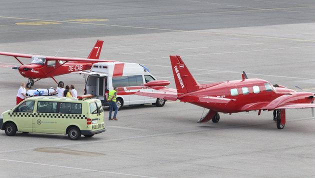 Die 20-jährige Maturantin Marlene W. aus Wolfern landete am Dienstagabend am Flughafen Hörsching. (Bild: laumat.at)
