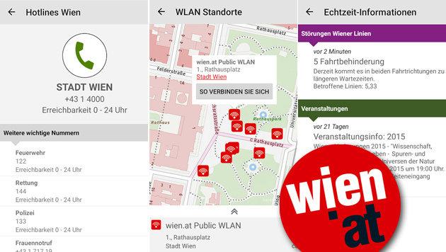 Services der Stadt Wien ab sofort auch als App (Bild: wien.gv.at, krone.at-Grafik)