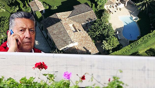 Elsners Anwesen im südfranzösischen Mougin wird jetzt um eine halbe Million Euro renoviert. (Bild: APA/ZEITUNGSFOTO.AT/DANIEL LIEBL, APA/NORBERT JUVAN)
