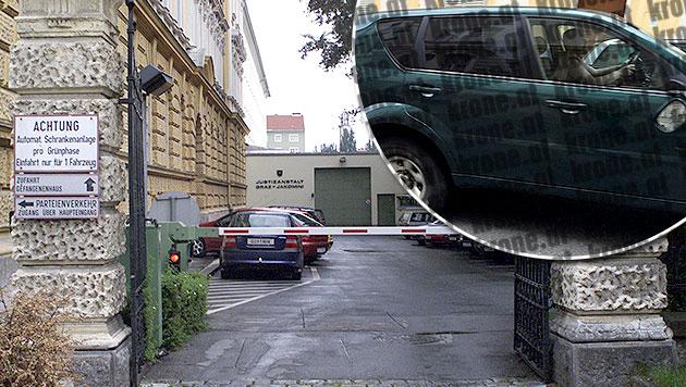 """Keine Verlegung - Alen R. bleibt in Graz in U-Haft (Bild: Christian Jauschowetz, """"Krone"""")"""