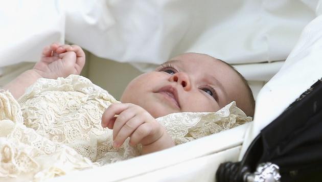 Supersüß: die kleine Charlotte (Bild: AP)