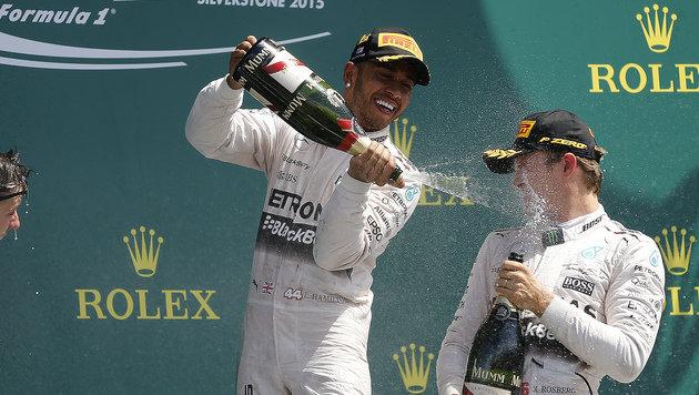 Hamilton: Keine Aussprache mit Rosberg! (Bild: AP)