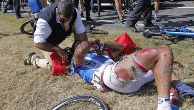 Horror-Massensturz überschattet Sieg von Rodriguez (Bild: AP)