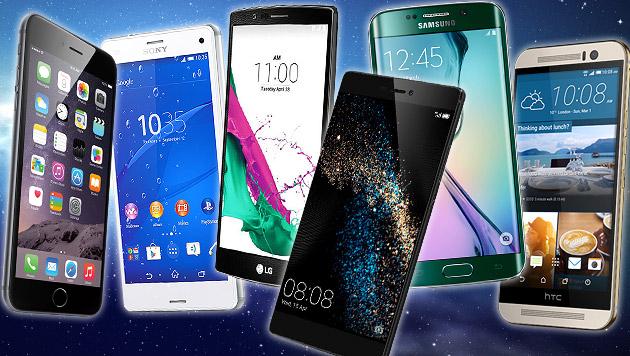 Knipsen mit dem Smartphone: Der Vergleichstest (Bild: Sony, LG, Huawai, Apple, Samsung, HTC, thinkstockphotos.de)