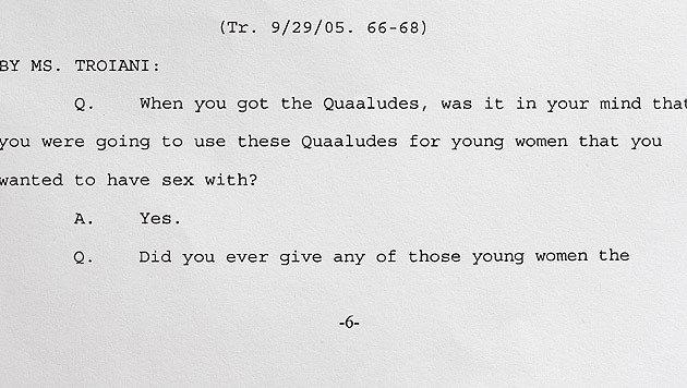 Bill Cosbys Aussage aus dem Jahr 2005 (Bild: AP)