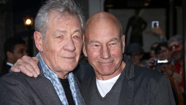 Mit Ian McKellen verbindet Patrick Stewart eine lange Freundschaft. (Bild: Joel Ryan/Invision/AP)