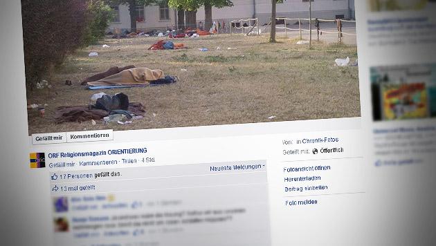 Flüchtlinge schockieren mit Fotos aus Traiskirchen (Bild: facebook.com/Orientierung)