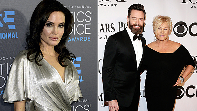 Hugh Jackman darf nicht mit Angelina Jolie drehen. (Bild: APA/EPA/MICHAEL NELSON, APA/EPA/JASON SZENES)