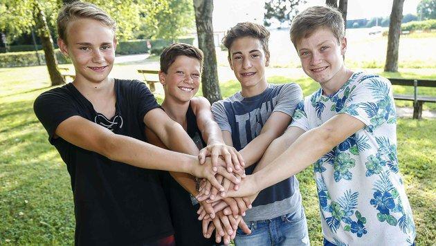 Elias, Fabio, Felix und Samuel (Bild: MARKUS TSCHEPP)