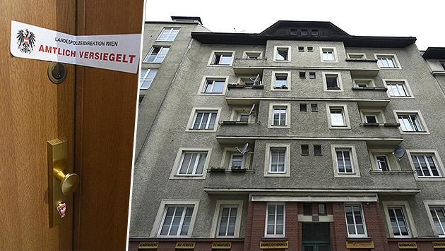 In einer Wohnung dieses Hauses tötete die 25-Jährige ihren Sohn. (Bild: APA/HELMUT FOHRINGER)