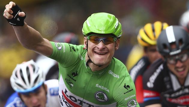 Andre Greipel erneut Schnellster im Massensprint (Bild: AP)