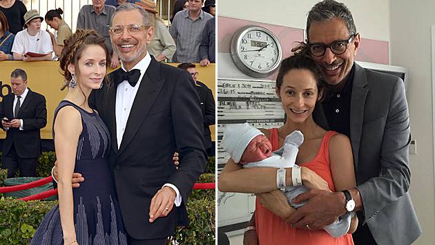 Jeff Goldblum ist erstmals Papa geworden. (Bild: APA/EPA/PAUL BUCK, facebook.com/jeffgoldblum)