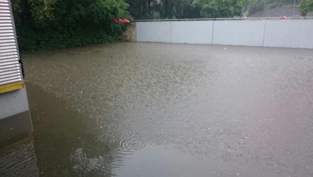 Heftige Überschwemmung in Kapfenberg (Bild: FF Kapfenberg)