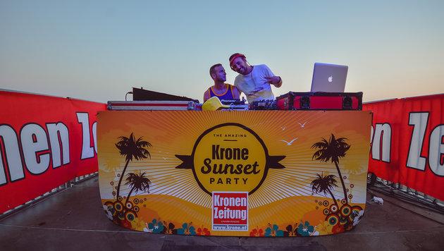 "Die ""Krone""-Sunset Party (Bild: Splashline / Johann Paul Schmidt)"