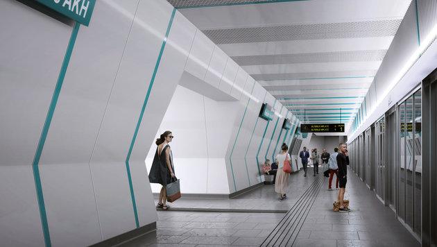 Wiener Designer gestalten neue U-Bahn-Linie 5 (Bild: APA/YF ARCHITEKTEN&FRANZ ARCHITEKTEN)