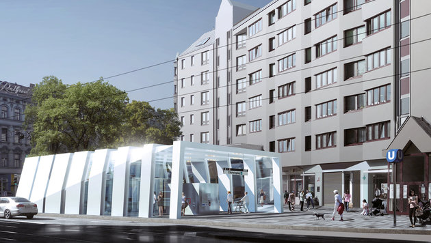 U-Bahn-Ausbau: Trasse und Stationen jetzt fix (Bild: APA/YF ARCHITEKTEN&FRANZ ARCHITEKTEN)