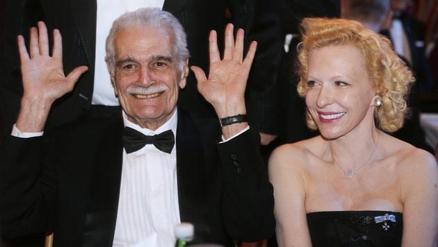 Sharif mit Sunnyi Melles (Wiener Filmball 2013) (Bild: APA/GEORG HOCHMUTH)