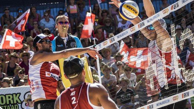 Doppler & Horst feiern Gruppensieg bei Major! (Bild: BeachMajors/Langreiter)