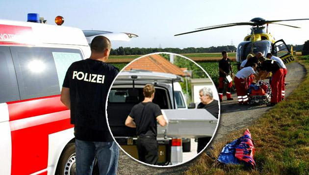 Familiendrama in NÖ: Mann tot, Frau verletzt (Bild: APA/THOMAS LENGER)